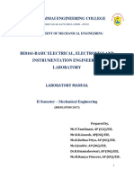 BE8161-Basic Electrical Electronics and Instrumentation Engineering Lab Manual