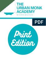 Urban Monk Academy Workbook Print