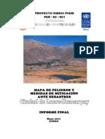 4273 Mapa de Peligros y Medidas de Mitigacion Ante Desastres Ciudad de Lucre Huacarpay