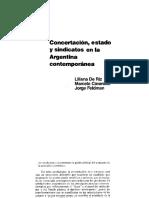 De Riz, Cavarozzi y Feldman - Concertación, Estado y Sindicatos en La Argentina Contemporánea, Cap. 2