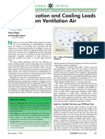 ASHRAE 199711 Deh and Cooling Loads From Vent Air