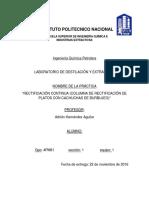 Práctica Rectificación Continua Columna de Rectificación de Platos Con Cachuchas de Burbujeo