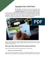Fakta Mencengangkan Dari Judi Poker