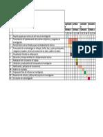 Cronograma para Desarrollo de investigación