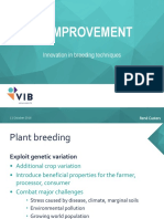 Crop Enviroment Convetional and New Breeding Techniques 2016-10-11-Custers
