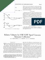 Relative Voltmeter for VHFUHF Signal Generator Attenuator Calibration-J8e