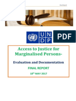 UNDP Report on Access to Justice for Marginalised Presented to National Mission for Jsutics Delivery & Legal Reforms