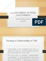 6. Indefeasibility of Title Interests