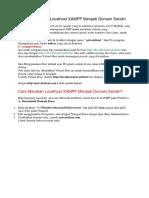 Cara Merubah Localhost XAMPP Menjadi Domain Sendiri