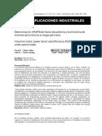 Determinación del factor de potencia motores trifasico asincrónico