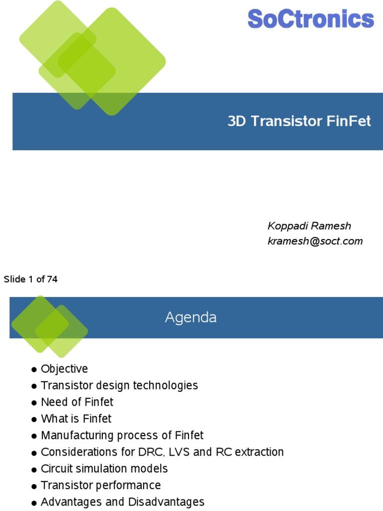1538974143626 Presentation on FinFet   Field Effect Transistor