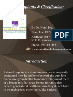 Dental Implant & Classification