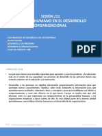 s11 El Factor Humano en El Desarrollo Organizacional