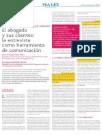 000,1 La Entrevista Como Herramienta de Comunicacion Diario La Ley Nov 2009