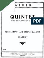 WEBER Quintet - Clarinete