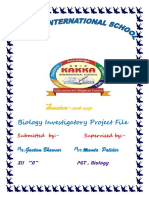 Gautam Bhawsar project for class 12th bio