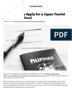 How to Really Apply for a Japan Tourist Visa (for Filipinos)