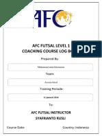 Afc Futsal Level 1 Log Book(1)