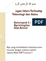 Pandangan Islam Terhadap Teknologi Dan Sains