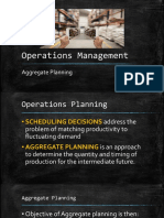 12 Aggregate Planning