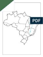 Map a Brasil Rios