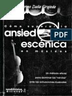 DALIA Como Superar La Ansiedad Escenica en Musicos PDF