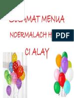 Selamat Menua Noermalach Hanz