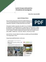 Encuentro Europa-Latinoamérica  de Periodismo de Investigación