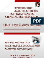Modelo matemático de la película lagrimal para pacientes con ojo seco