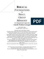 Biblical Foundations for a Small Group Ministry