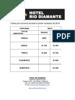 Hotel Rio Diamante (Tarifas 2019)