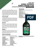 3832 Global Synthetic Power Steering Fluid 0613