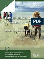 IPCC Impacts Summary