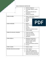 Lista de Chequeo Para Construccion de Infraestructura