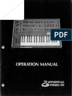 Pro One Operation Manual
