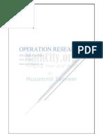 Operation Research Sir Haidar Ali