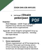 II. Job Disign