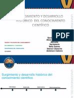 Surgimiento y Desarrollo Histórico de Las Ciencias