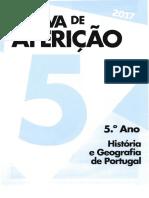 5º Ano HGP_Provas Aferiçao