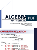 algebra( refresher)