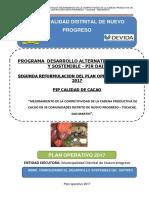 Poa 2017 II Reformulacion Proyecto Cacao Nuevo Progreso 30 Junio