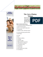 List of Taboos in the Baduy Community