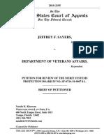 2018-2195.Sayers v DVA Petitioner's Brief (1)
