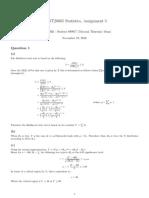 MAST20005 Statistics Assignment 3