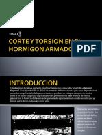 Tema #3 Corte y Torsion en Hormigon Armado