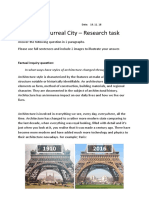 surreal city factual question homework  1
