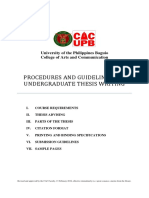 Updated Thesis Guidelines