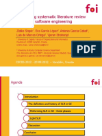 Performing Systematic Literature Review in Software Engineering