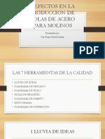 DEFECTOS EN LA PRODUCCION DE BOLAS DE ACERO PARA MOLINOS