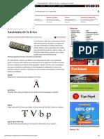 Partes de Una Letra UnosTiposDuros Manos a La Obra  Anatomía de La Letra